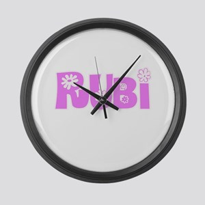 Rubi Flower Design Large Wall Clock