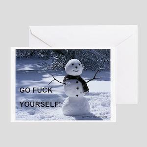 GFY Snowman Greeting Card