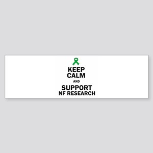 Keep Calm And Support Nf Research Bumper Sticker
