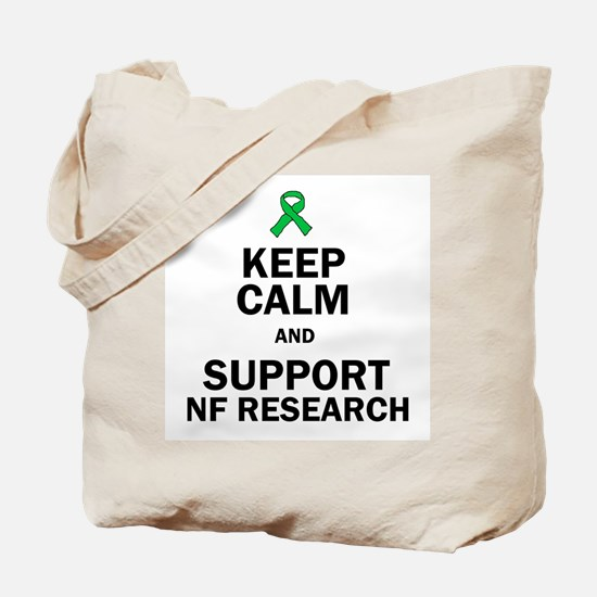 Keep Calm and Support NF Research Tote Bag