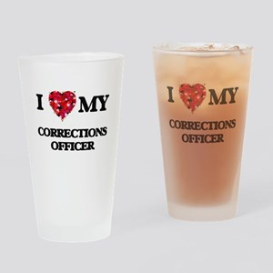 I love my Corrections Officer heart Drinking Glass
