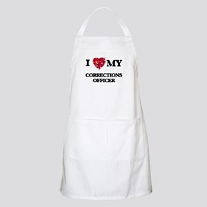 I love my Corrections Officer hearts design Apron