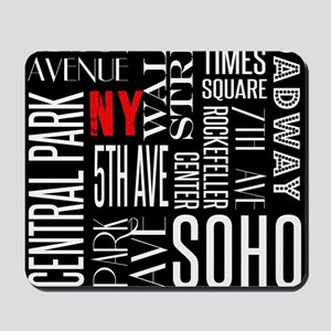 NY Streets Balck and White Mousepad