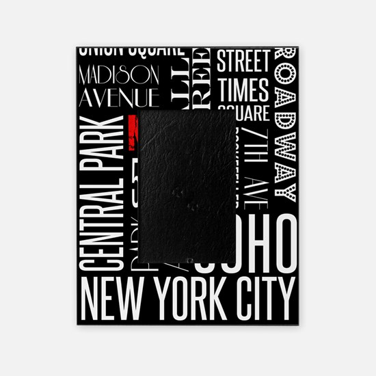 NY Streets Balck and White Picture Frame