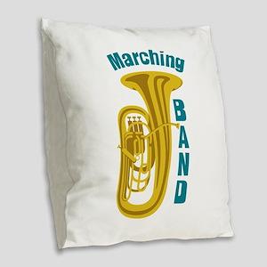 Marching Band Burlap Throw Pillow