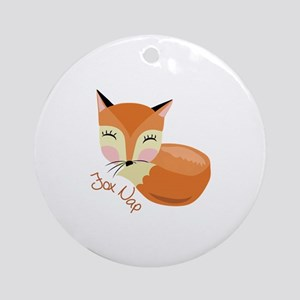 Fox Nap Ornament (Round)