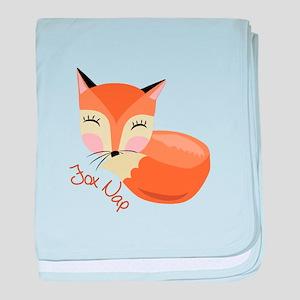 Fox Nap baby blanket