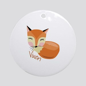 Vixen Ornament (Round)