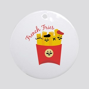 French Fries Ornament (Round)