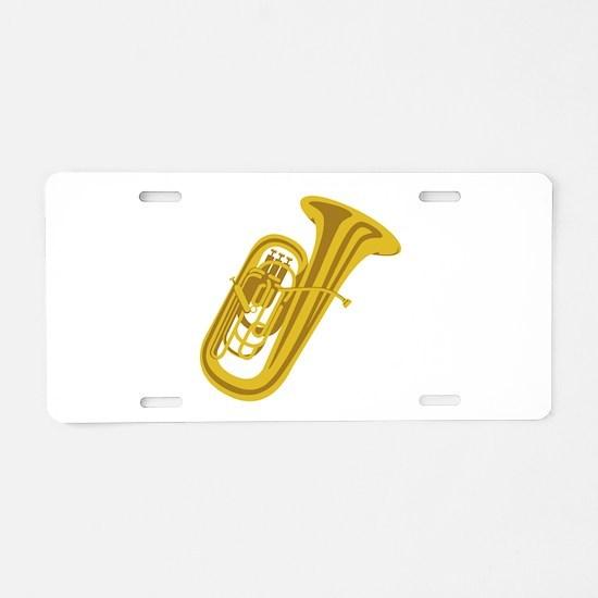 Tuba Aluminum License Plate