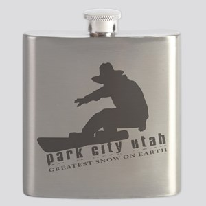 Park City Snowboarding Flask