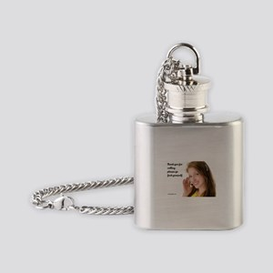 GFY Call Center Girl Flask Necklace