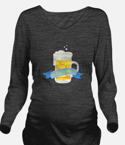 Home Brewed Long Sleeve Maternity T-Shirt