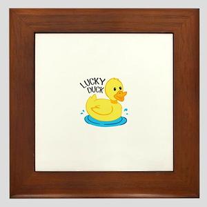 Lucky Duck Framed Tile