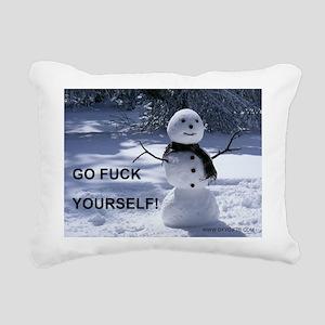Snowman GFY Rectangular Canvas Pillow