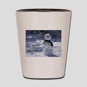 Snowman GFY Shot Glass