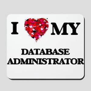 I love my Database Administrator hearts Mousepad