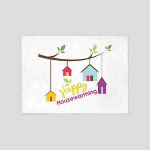 Happy Housewarming 5'x7'Area Rug