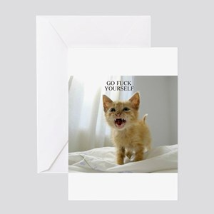 Early Morning Kitty Greeting Cards