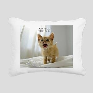 Early Morning Kitty Rectangular Canvas Pillow