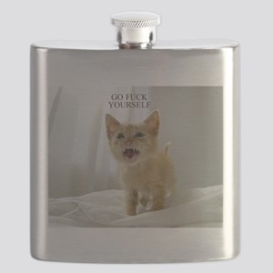 Early Morning Kitty Flask