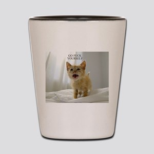 Early Morning Kitty Shot Glass