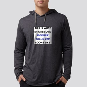 loving border collie dad Mens Hooded Shirt
