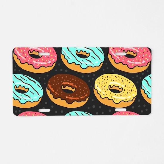 Donuts Aluminum License Plate