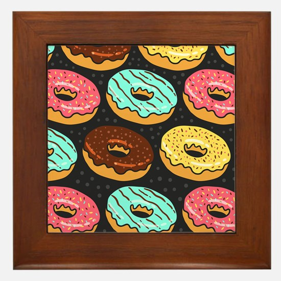 Donuts Framed Tile