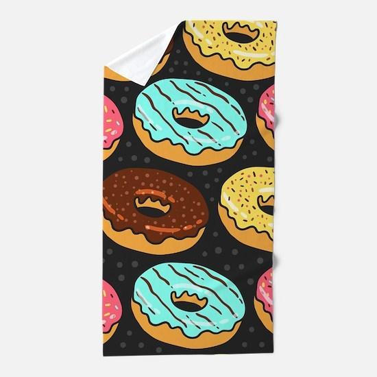 Donuts Beach Towel