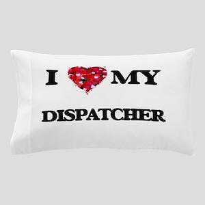 I love my Dispatcher hearts design Pillow Case