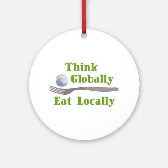Eat Locally Ornament (Round)