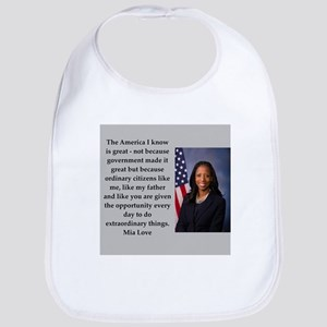 mia love quote Bib