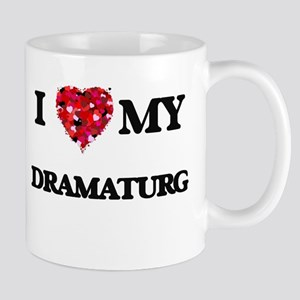 I love my Dramaturg hearts design Mugs