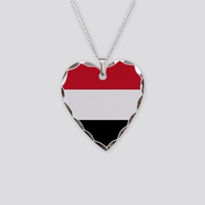 Flag of Yemen Necklace Heart Charm