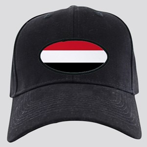 Flag of Yemen Black Cap with Patch