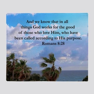 ROMANS 8:28 Throw Blanket