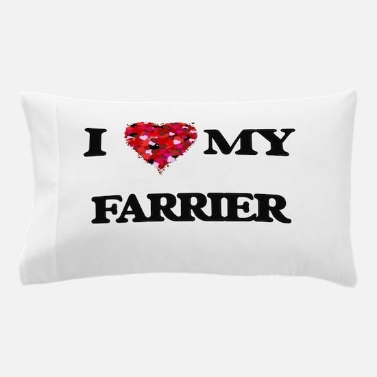 I love my Farrier hearts design Pillow Case