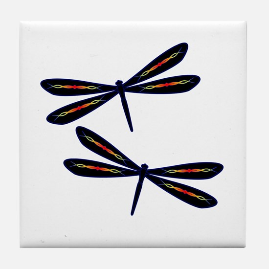 Hot rod Dragonflies Tile Coaster