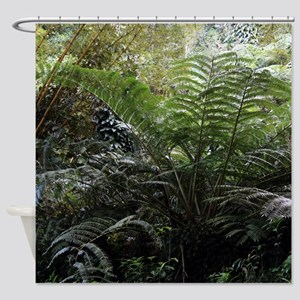 Giant Tropical Fern Shower Curtain
