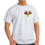 2 Heart Love and Support Your Troop Grey T-Shirt