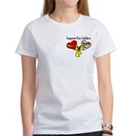2 Hearts Desert Support Our Soldies OIF T-Shirt