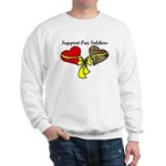 2 Heart Soldier Support Military Sweatshirt