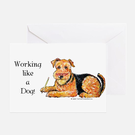 Working Airedale Greeting Card
