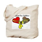2 Hearts I Love my Soldier in Iraq Tote Bag