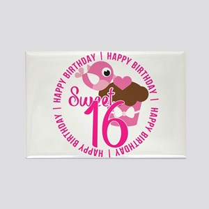 Sweet 16th Birthday Rectangle Magnet