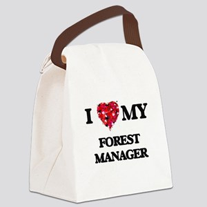 I love my Forest Manager hearts d Canvas Lunch Bag