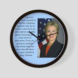 hillary clinton quote Wall Clock