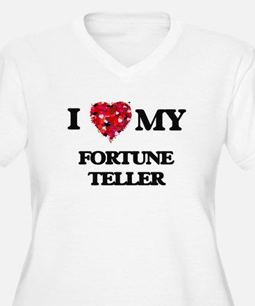 I love my Fortune Teller hearts Plus Size T-Shirt
