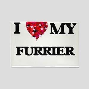 I love my Furrier hearts design Magnets